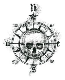 skull-compass-rose